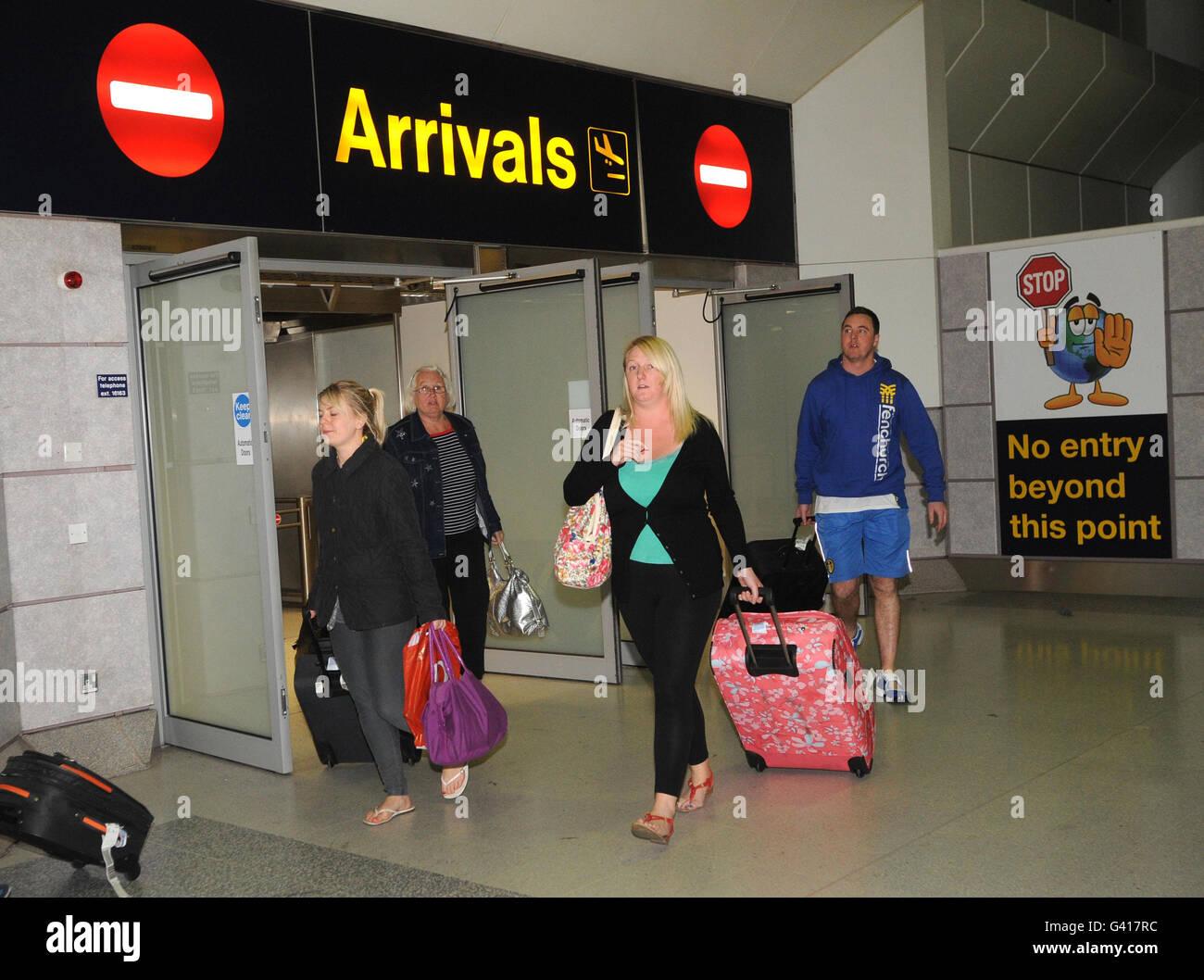 Holiday Britons evacuated from Tunisia - Stock Image