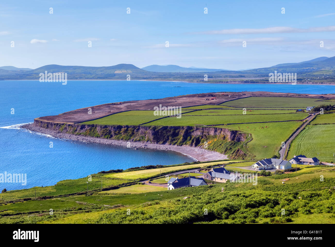 Ballingskelligs Bay, Loher, Ring of Kerry, Ireland - Stock Image