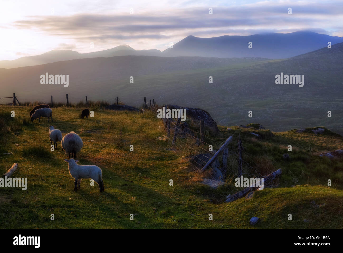 Moll's Gap, Macgillycuddy's Reeks, Ring of Kerry, Ireland - Stock Image