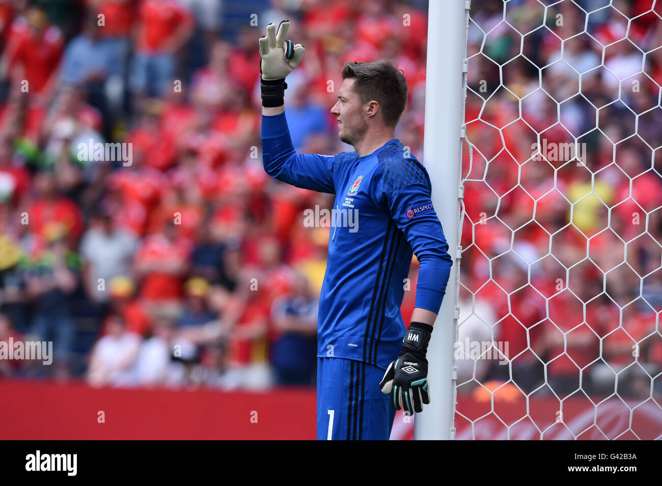 Wayne Hennessey (Galles)                ;  June 16; 2016- Football : Uefa Euro France 2016  Group Stage-MD2 ; Group Stock Photo