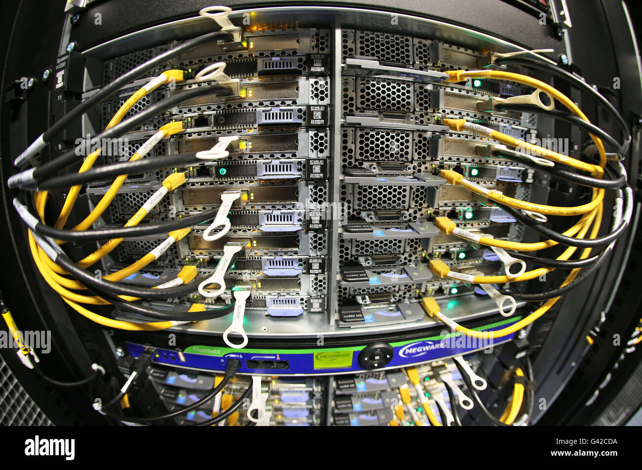 An entity (Compunote) of the new high performance computer 'Janus' works in the Martin-Luther-University - Stock Image