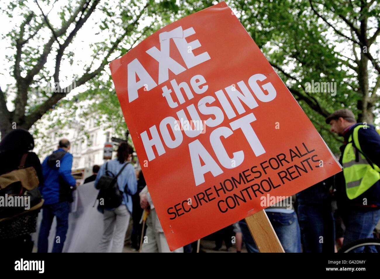 London, UK. 18th June 2016. Housing campaigners organised by Kill the Housing Bill march against government plans Stock Photo