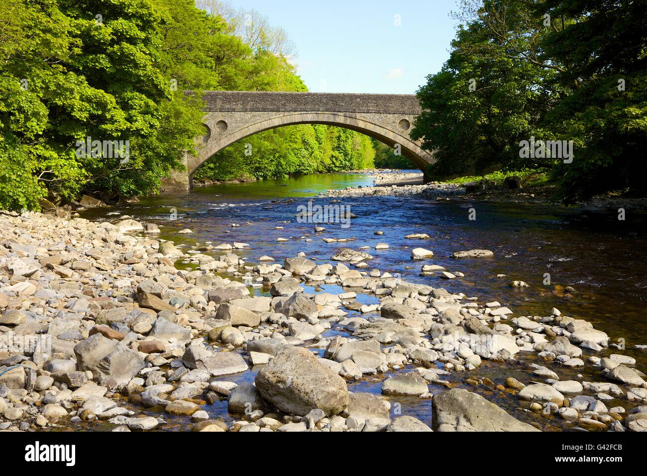 Middleton Bridge over the River Tees, Road bridge on the B6277. Middleton-in-Teesdale, County Durham, England, United - Stock Image