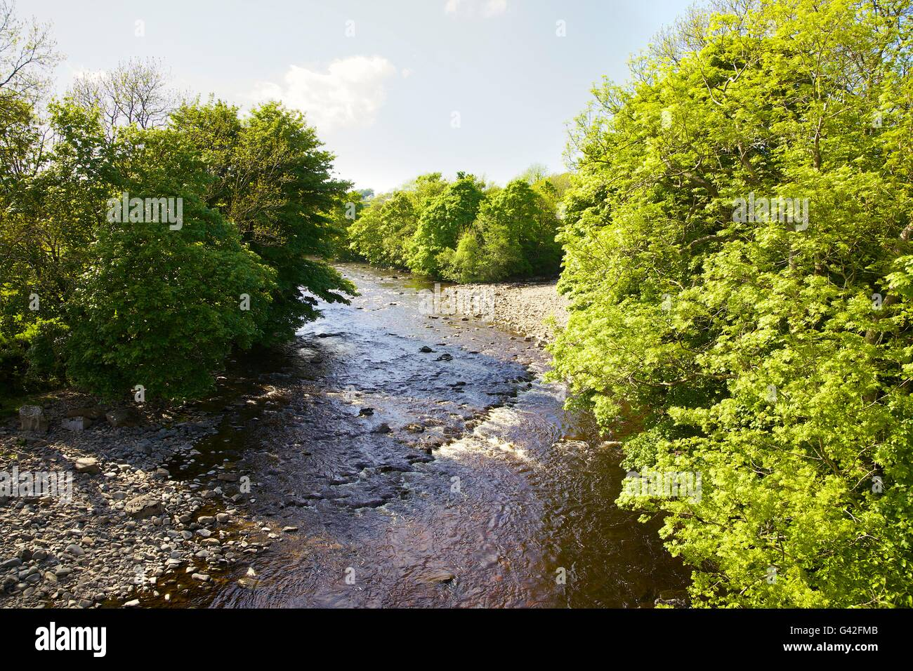 River Tees. Middleton-in-Teesdale, County Durham, England, United Kingdom, Europe. - Stock Image