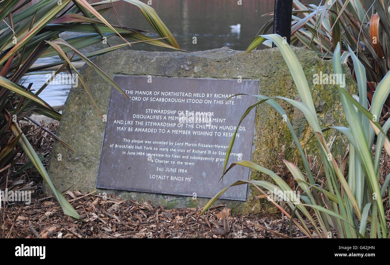 Manor of Northstead plaque Sto...
