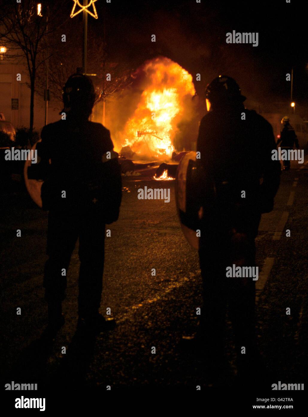 British Crime - Civil Disturbance - Brixton Riots - London - 1995 - Stock Image