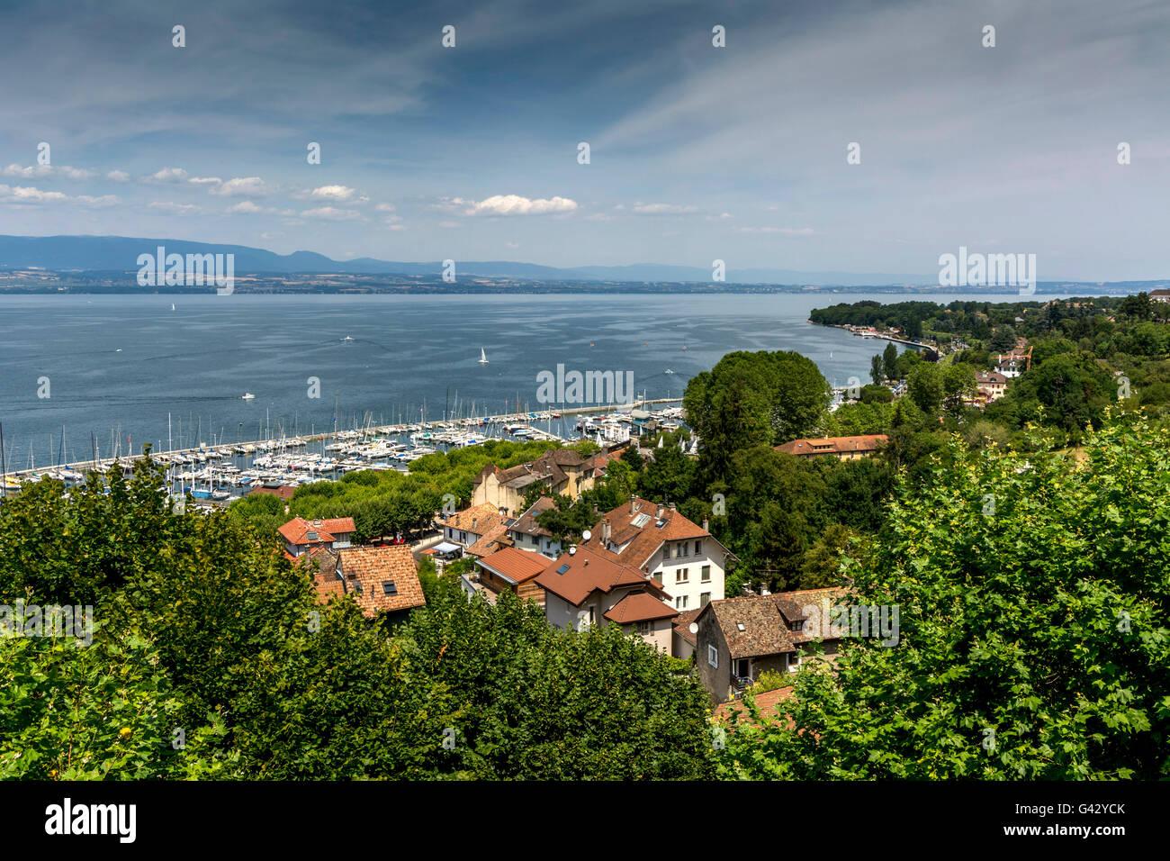 Thonon les Bains. Lake Léman view. Haute Savoie. France - Stock Image