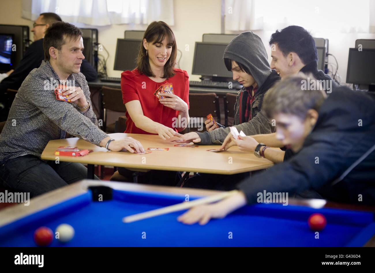Samantha Cameron visits Lighthouse Group - Stock Image