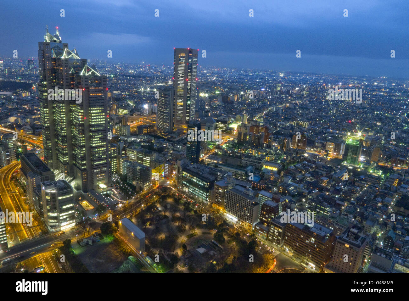 Panoramic view from the Government Building, Tokyo, Japan    Credit © Fabio Mazzarella/Sintesi/Alamy Stock - Stock Image