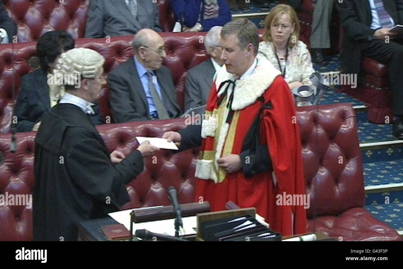 Nicol Stephen introduced to House of Lords - Stock Image