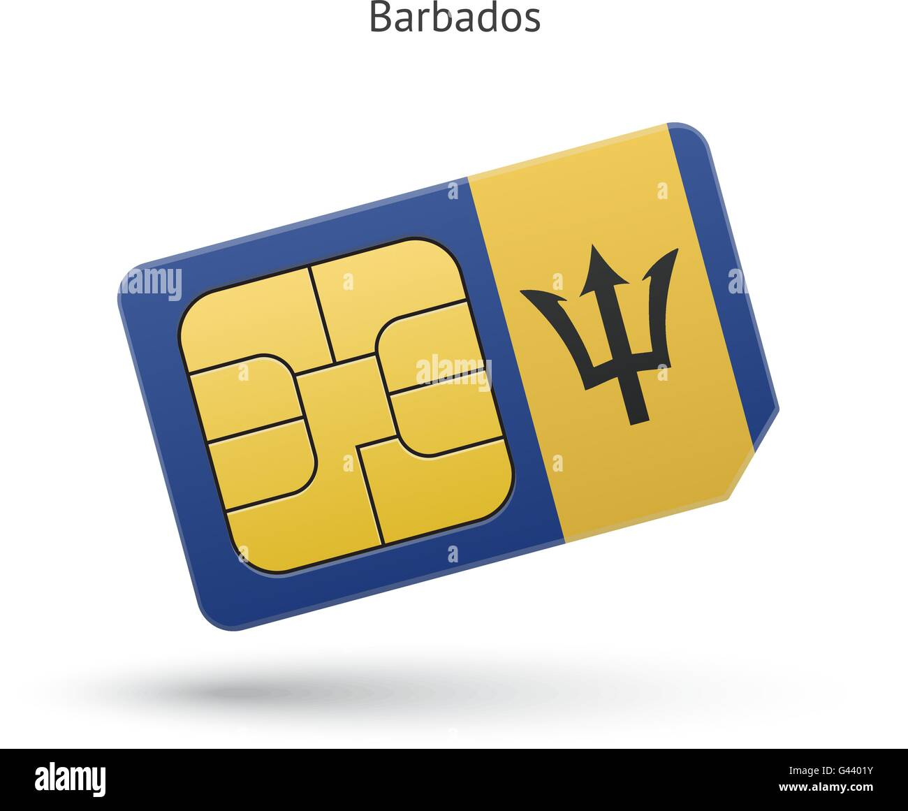 National Symbols Flag Barbados Stock Vector Images Alamy