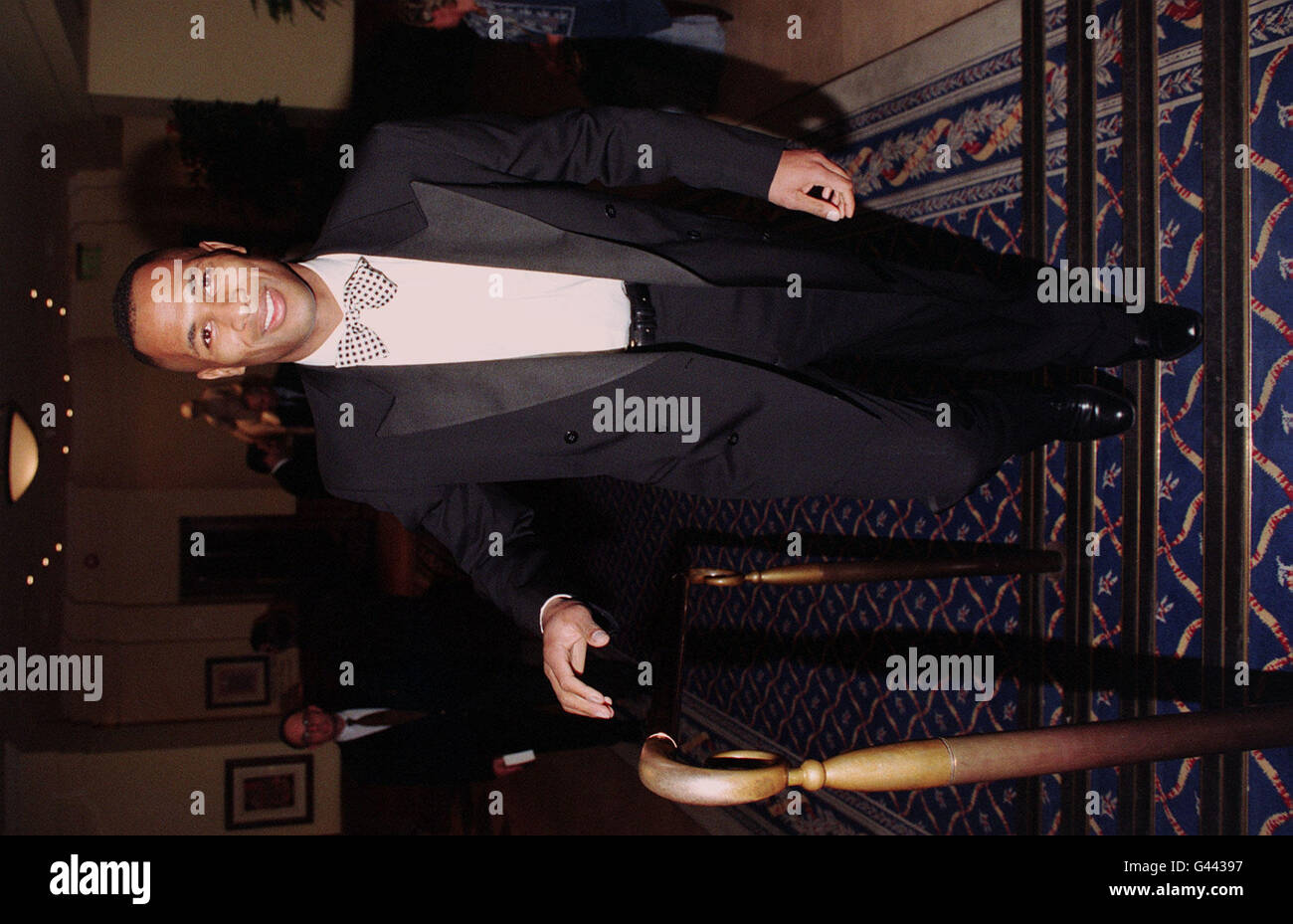 Les Ferdinand arriving at Professional Footballers Assoc. Dinner - Stock Image