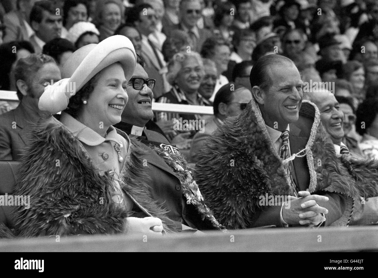 Royalty - Queen Elizabeth II Silver Jubilee -  New Zealand - Stock Image