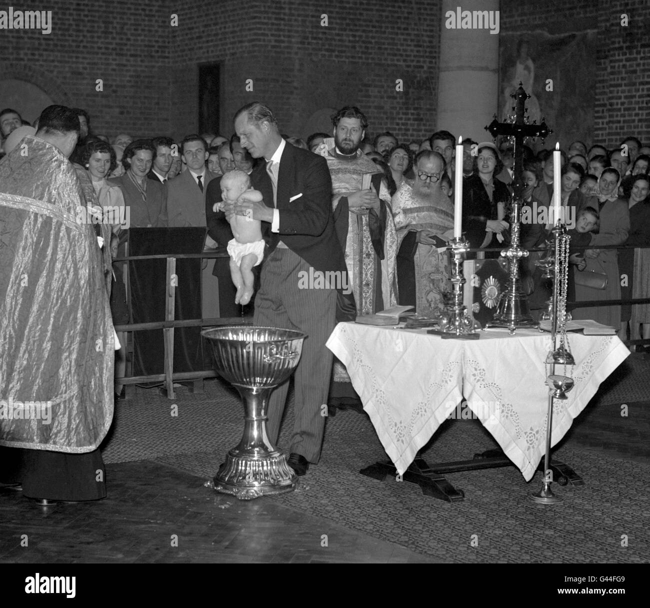 Royalty - Princess Marija Christening - Serbian Orthodox Church, London Stock Photo