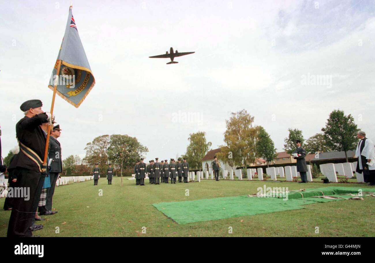 Banks Funeral /airman 2 - Stock Image