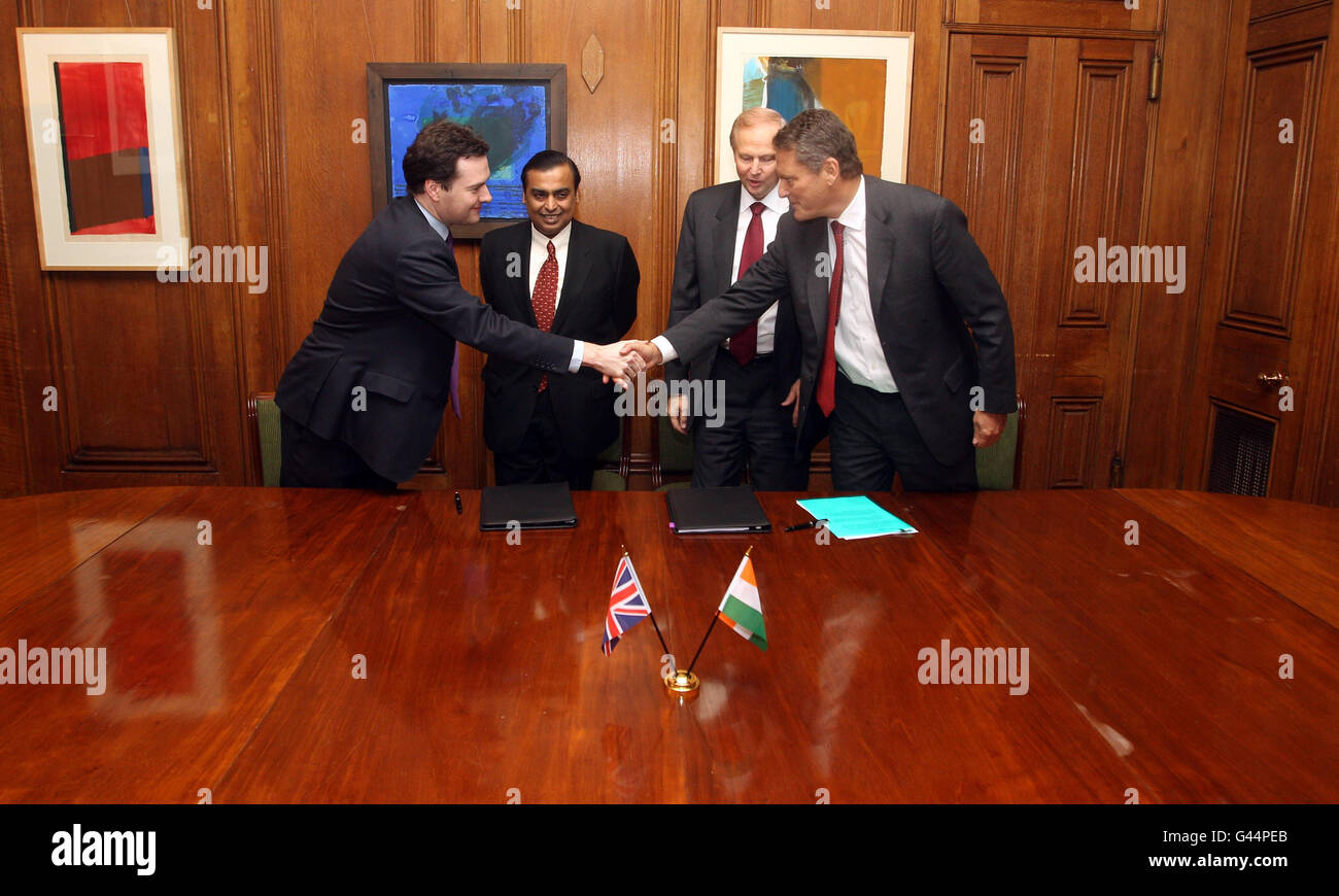 BP in deal with major Indian firm Stock Photo