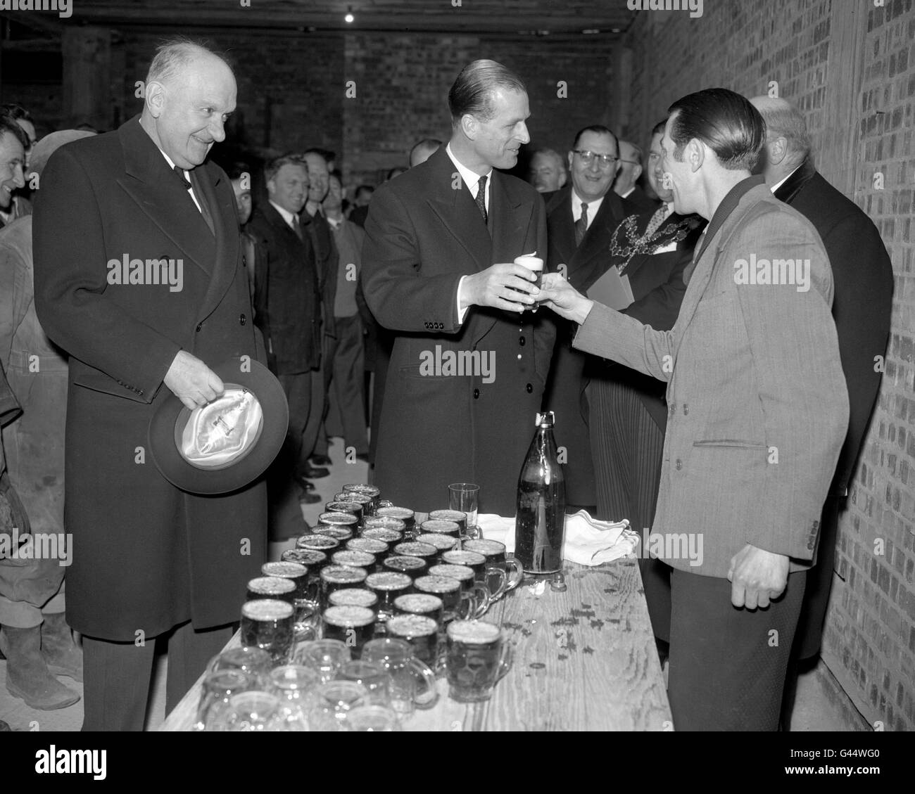 Royalty - The Duke of Edinburgh Laying a Foundation Stone - Portland Place, London - Stock Image
