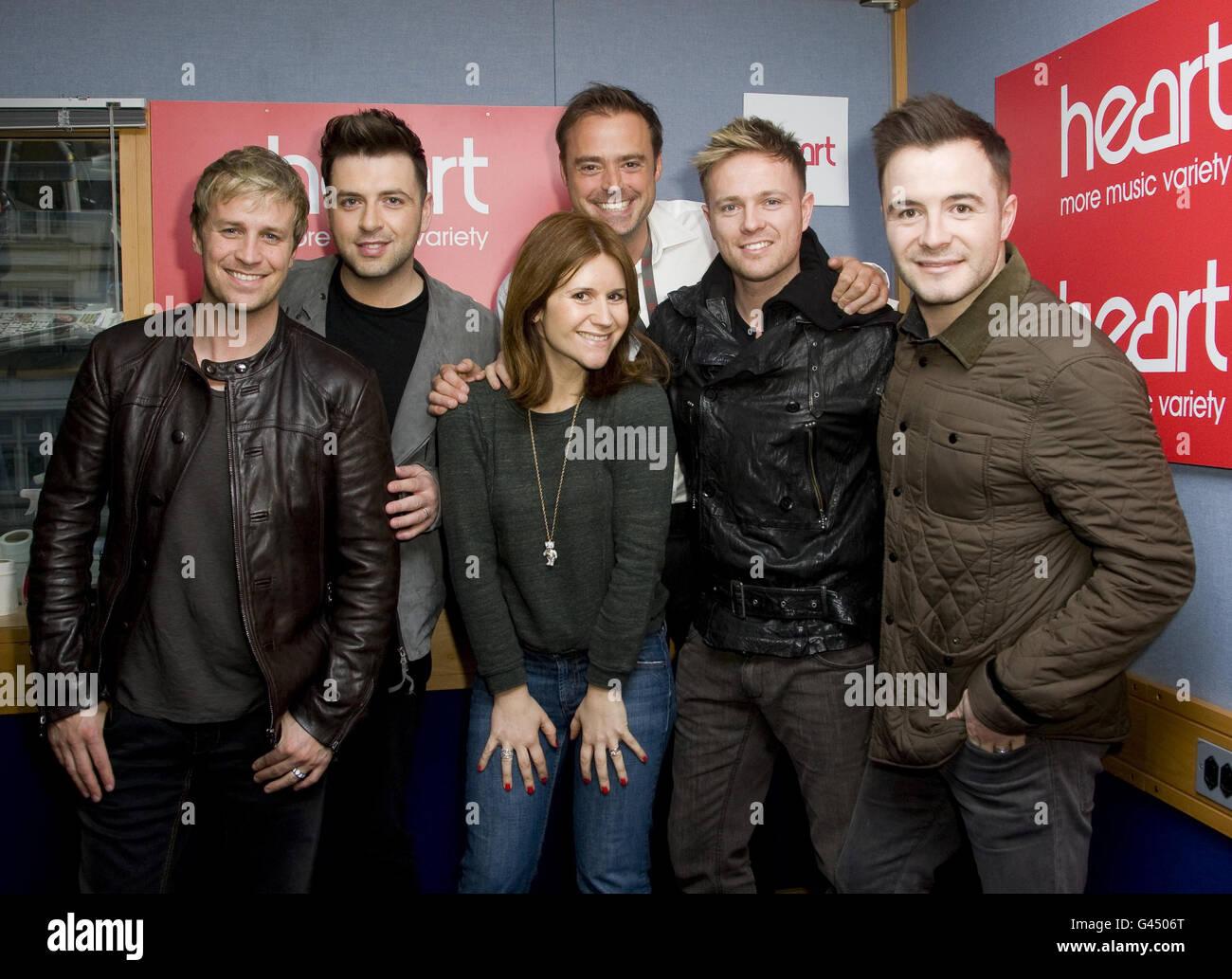 Westlife visit Heart FM - London Stock Photo: 105830784 - Alamy