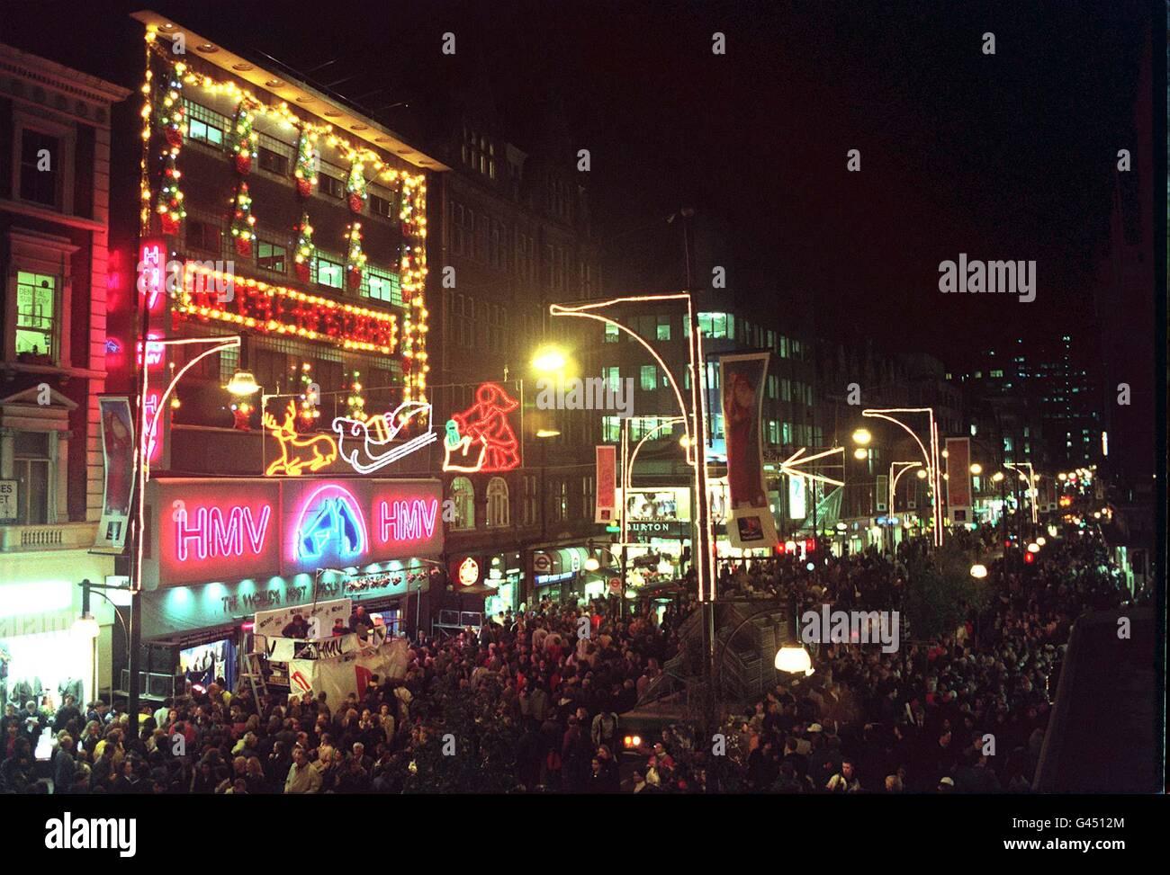SHOWBIZ Oxford Street lights - Stock Image
