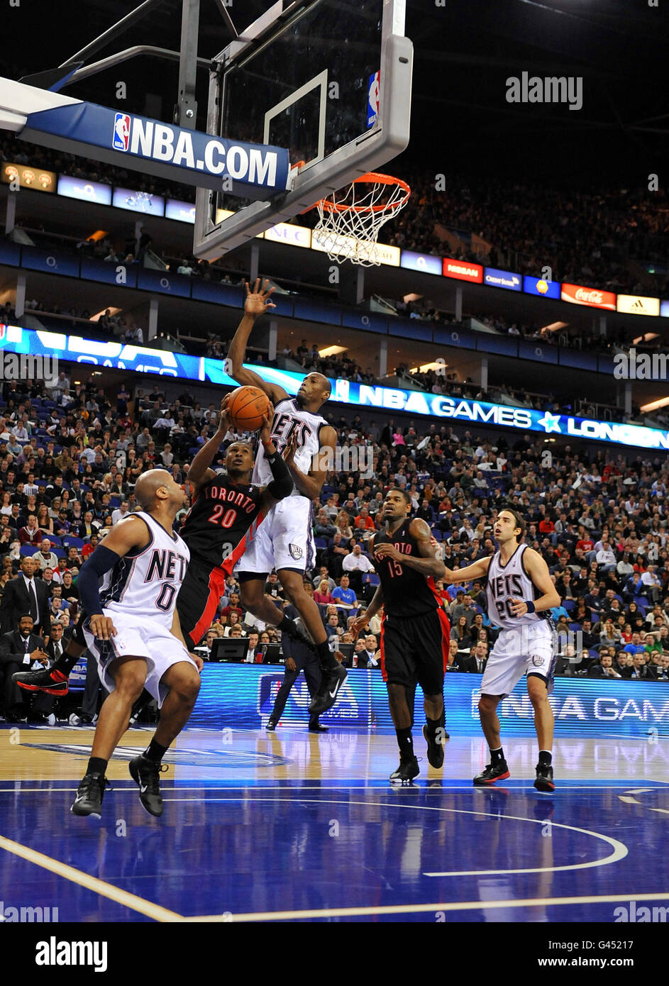 b06dfe19d Basketball - NBA - Game Two - New Jersey Nets v Toronto Raptors - o2 Arena