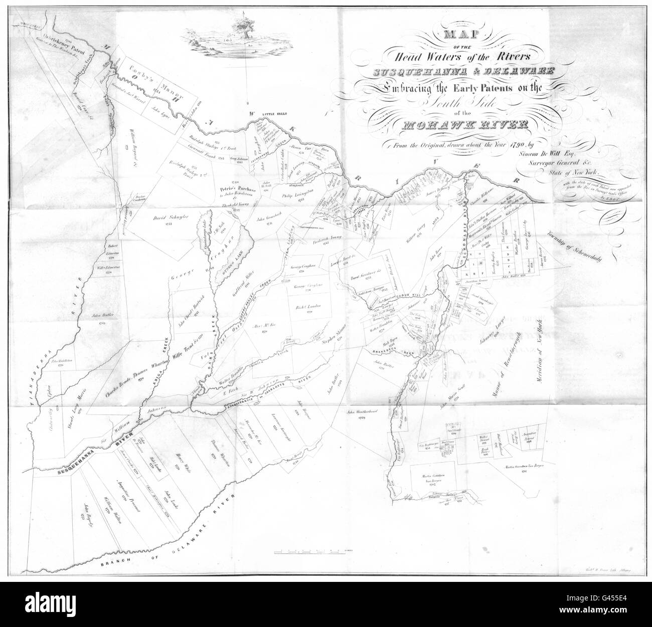 Map Of New York Rivers.New York State Mohawk Susquehanna Delaware Rivers Little Falls