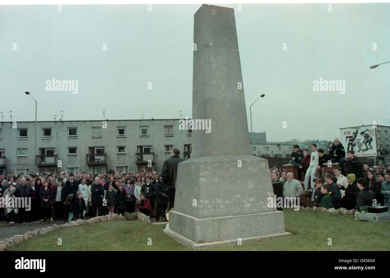 Bloody Sunday 25th mem serv 3 - Stock Image