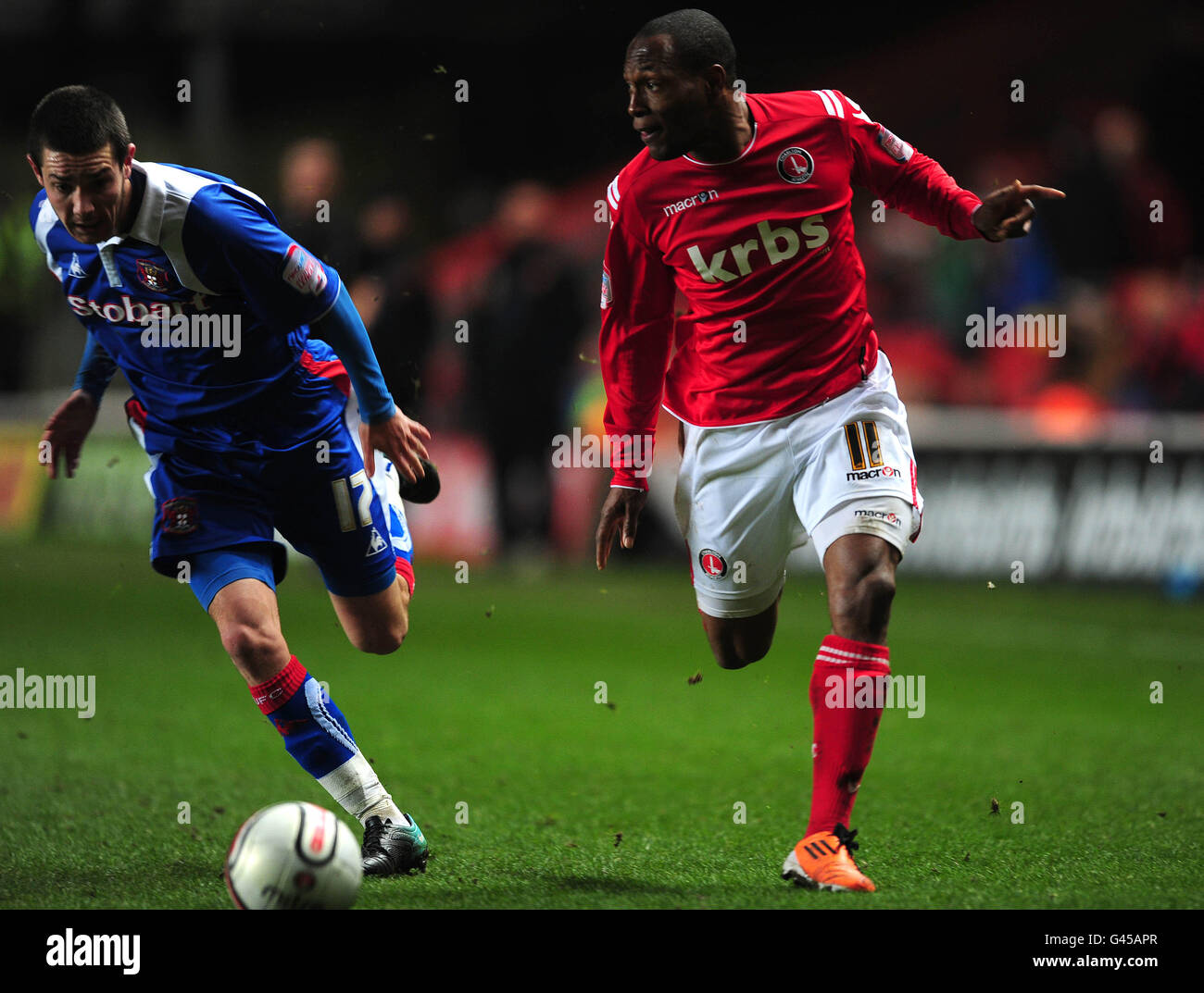 Soccer - npower Football League One - Charlton Athletic v Carlisle United - The Valley - Stock Image