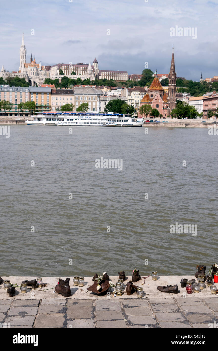 The metal shoes on the Danube Promenade