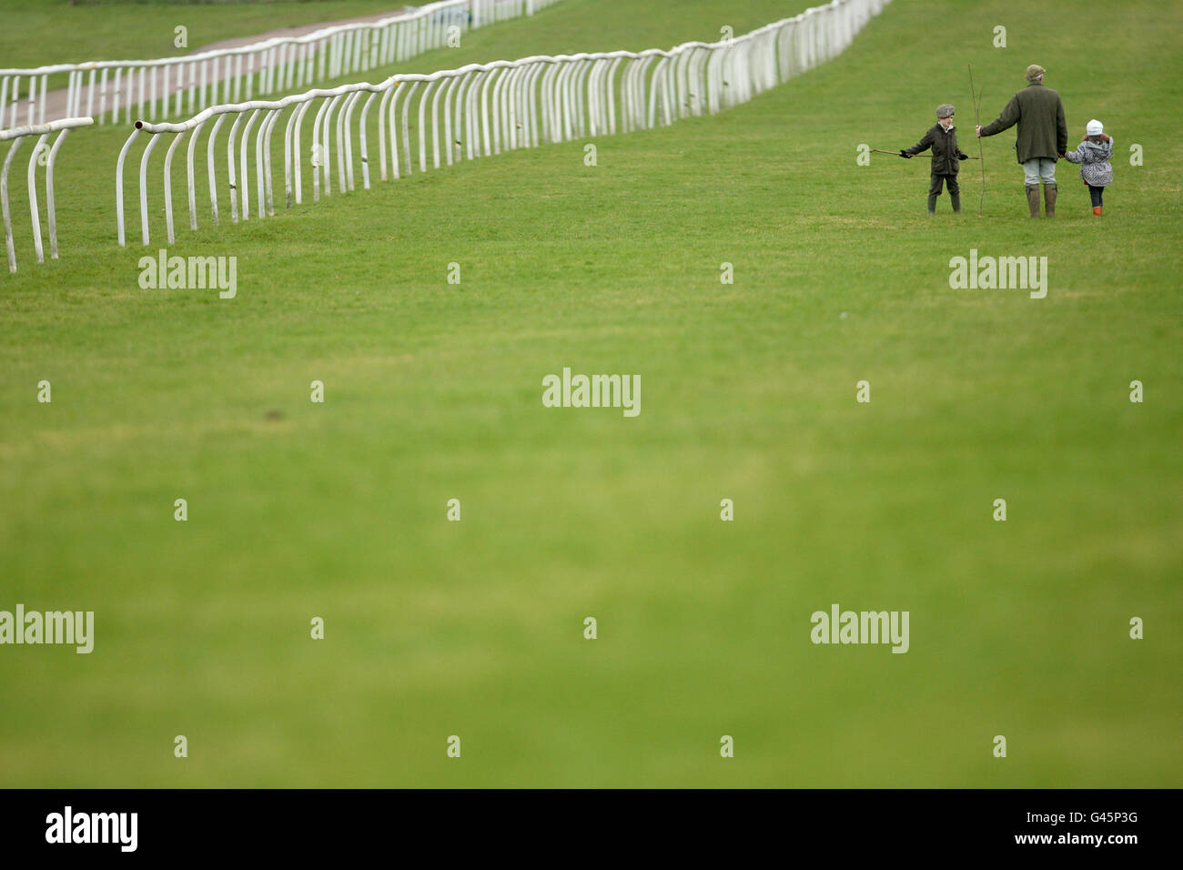 Horse Racing - Leicester Racecourse Stock Photo