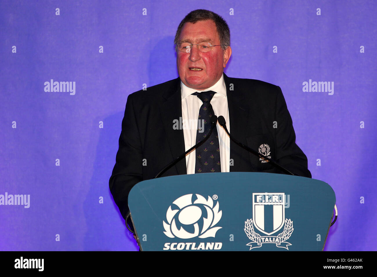 Rugby Union - RBS 6 Nations Championship 2011 - Scotland v Italy - Murrayfield - Stock Image