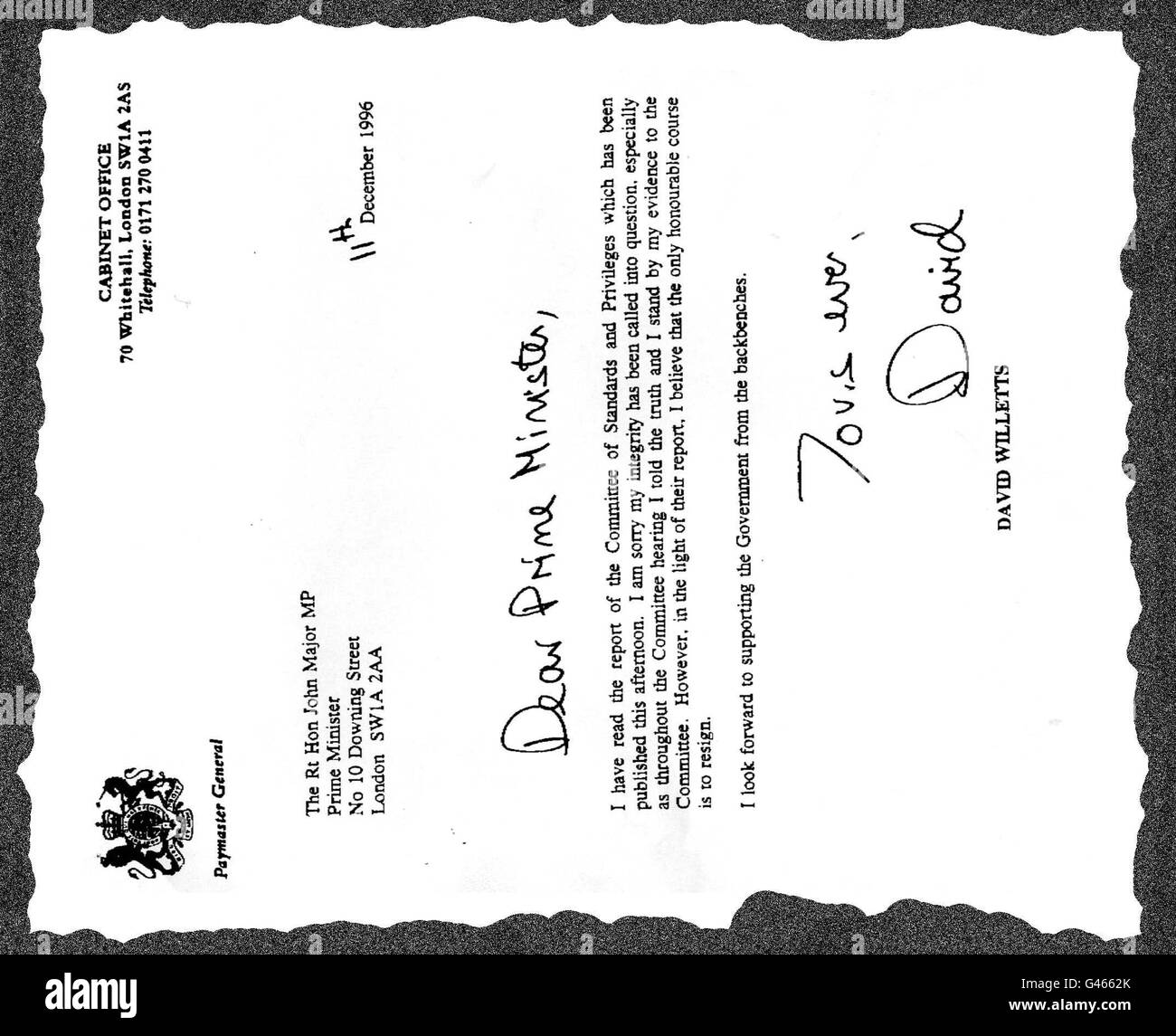Resignation Letter Black And White Stock Photos Images Alamy