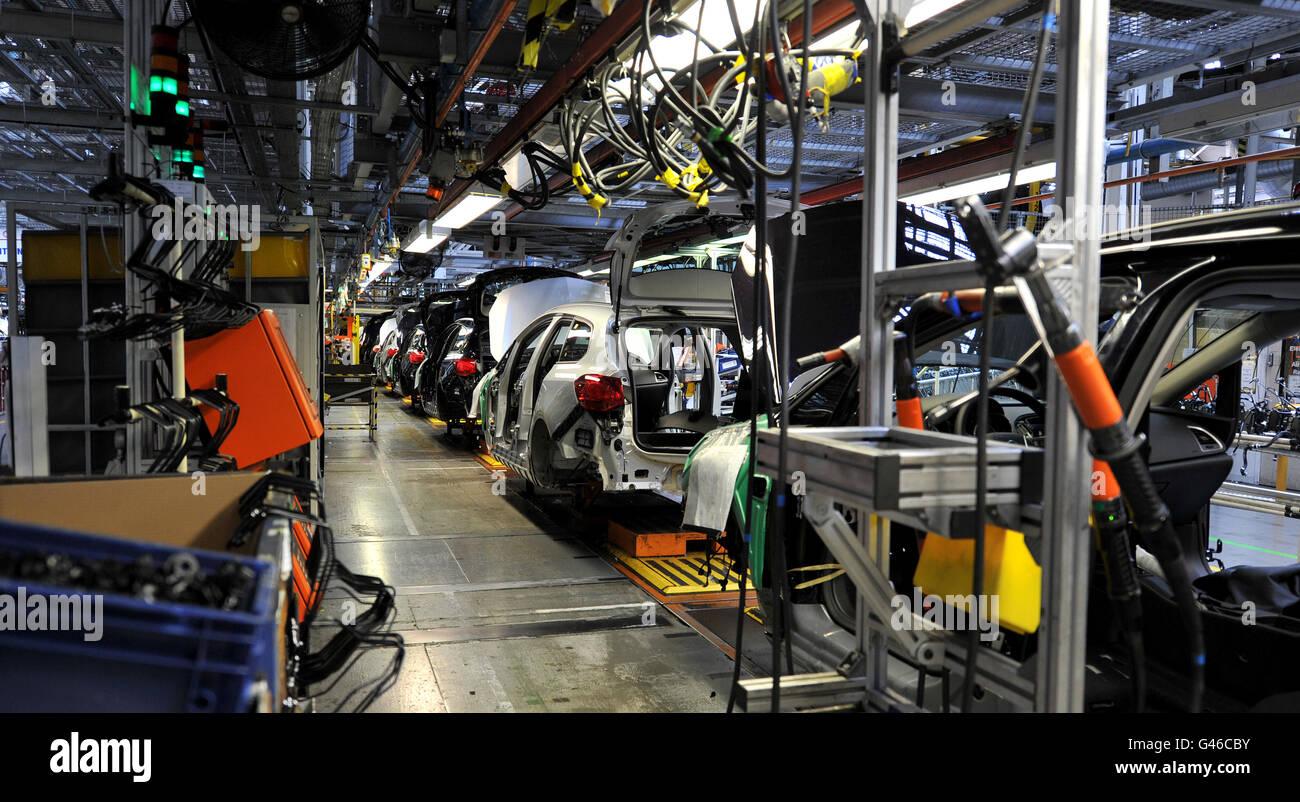 Vauxhall car stock - Stock Image