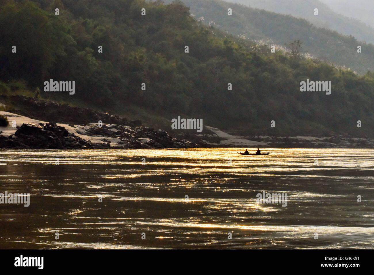 The Mekong river, Laos - Stock Image