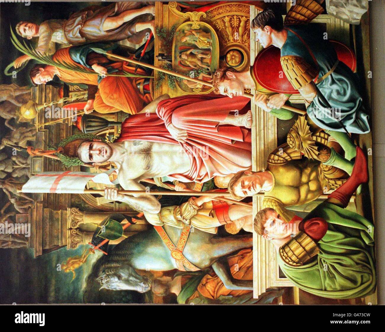 Arts Cantona Painting Stock Photo Alamy