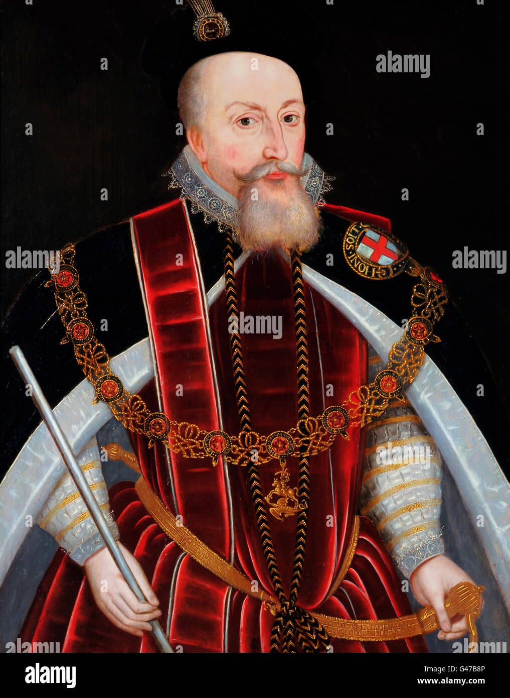 Robert Dudley, 1st Earl of Leicester , c.1595 - Stock Image