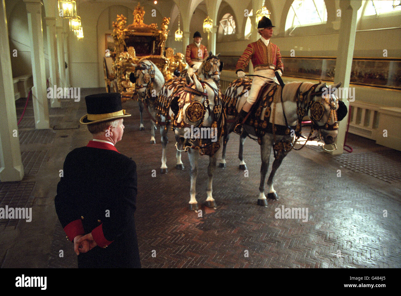 Royalty - Gold State Coach - Royal Mews - Stock Image