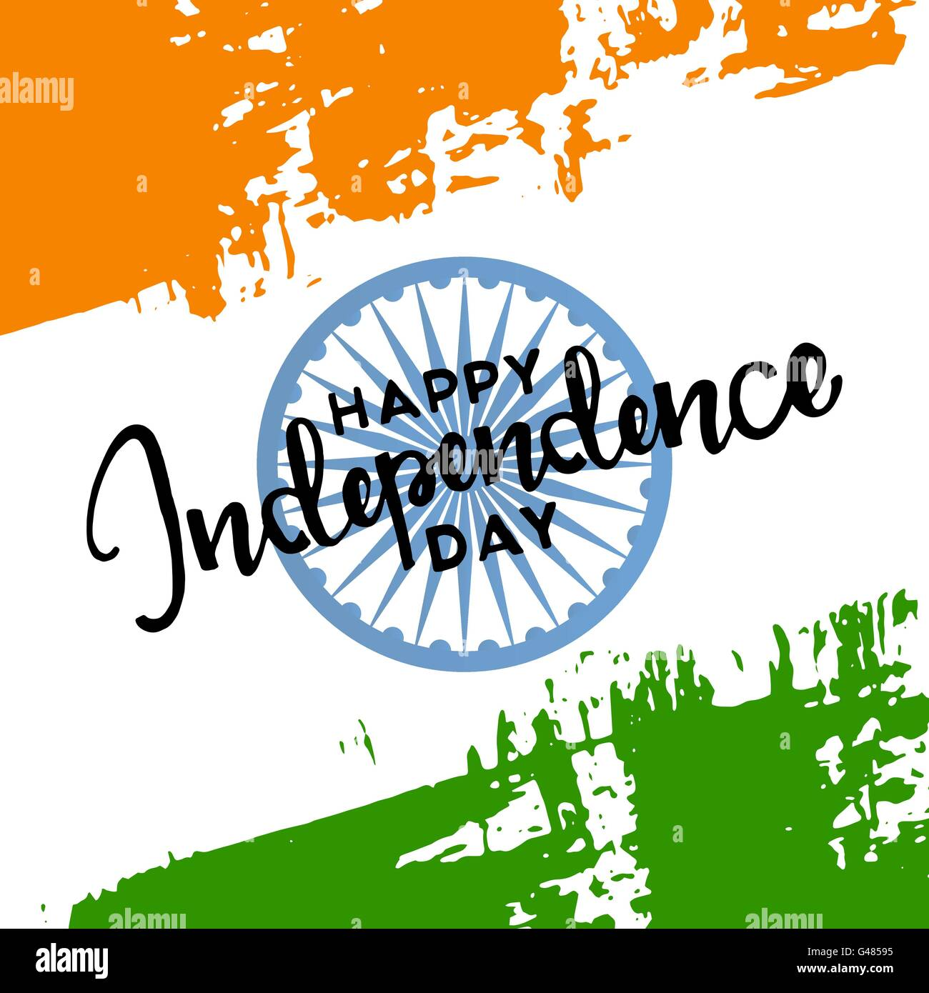 Happy Independence Day India 15th Of August Handwritten Lettering