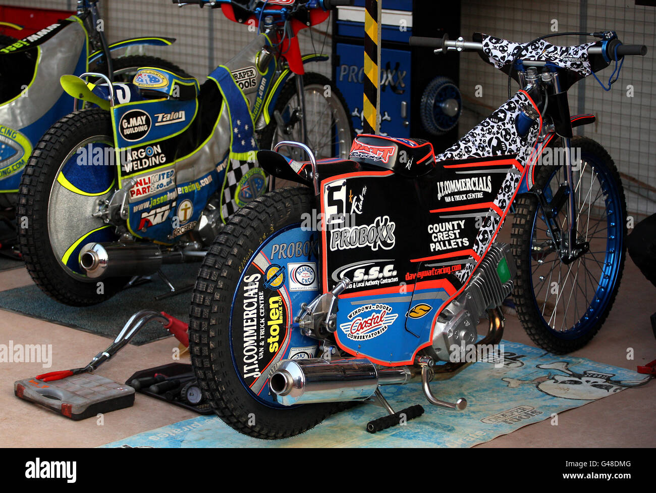 Speedway - Elite League - Birmingham Brummies v Poole Castle Cover Pirates- Perry Barr Stadium - Stock Image