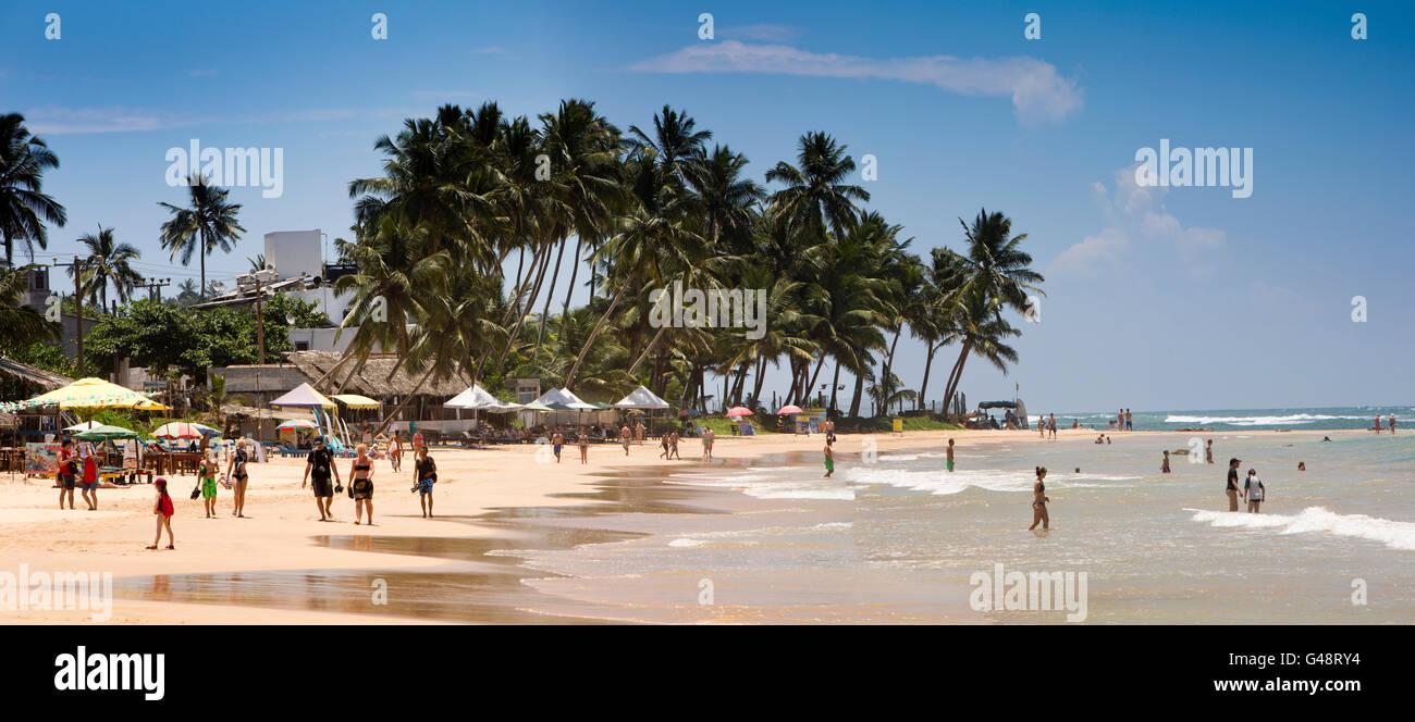Sri Lanka, Mirissa beach, panoramic Stock Photo