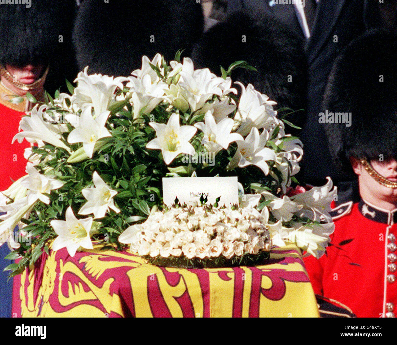 A Message Where Is Written Mummy Stands On The Coffin Of Diana