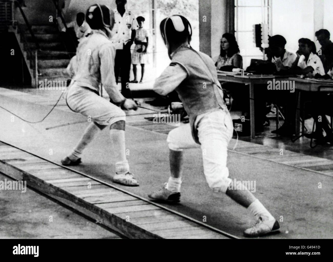Fencing - 8th British Commonwealth Games - Kingston, Jamaica Stock Photo
