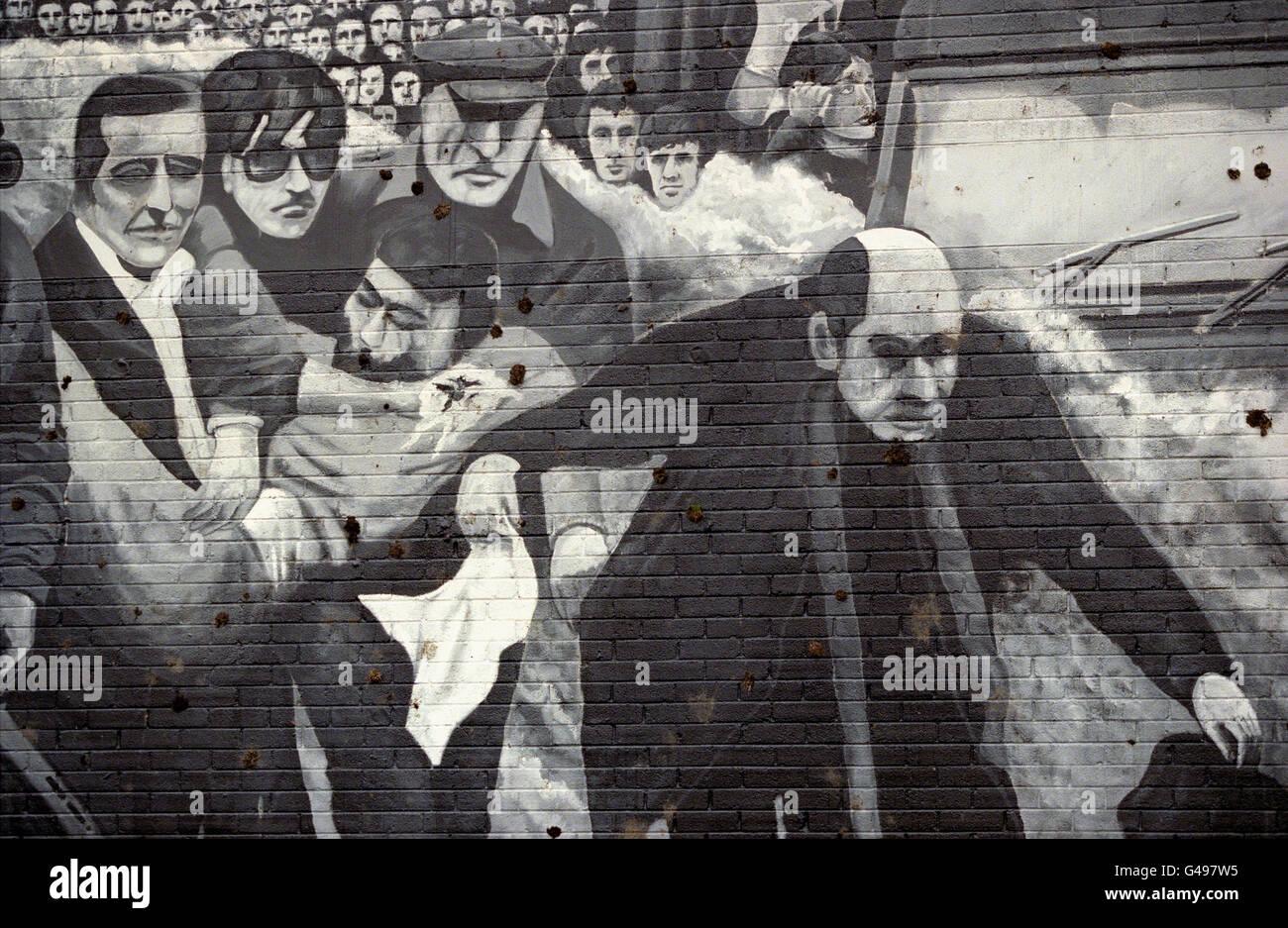 Mural/Free Derry Corner - Stock Image