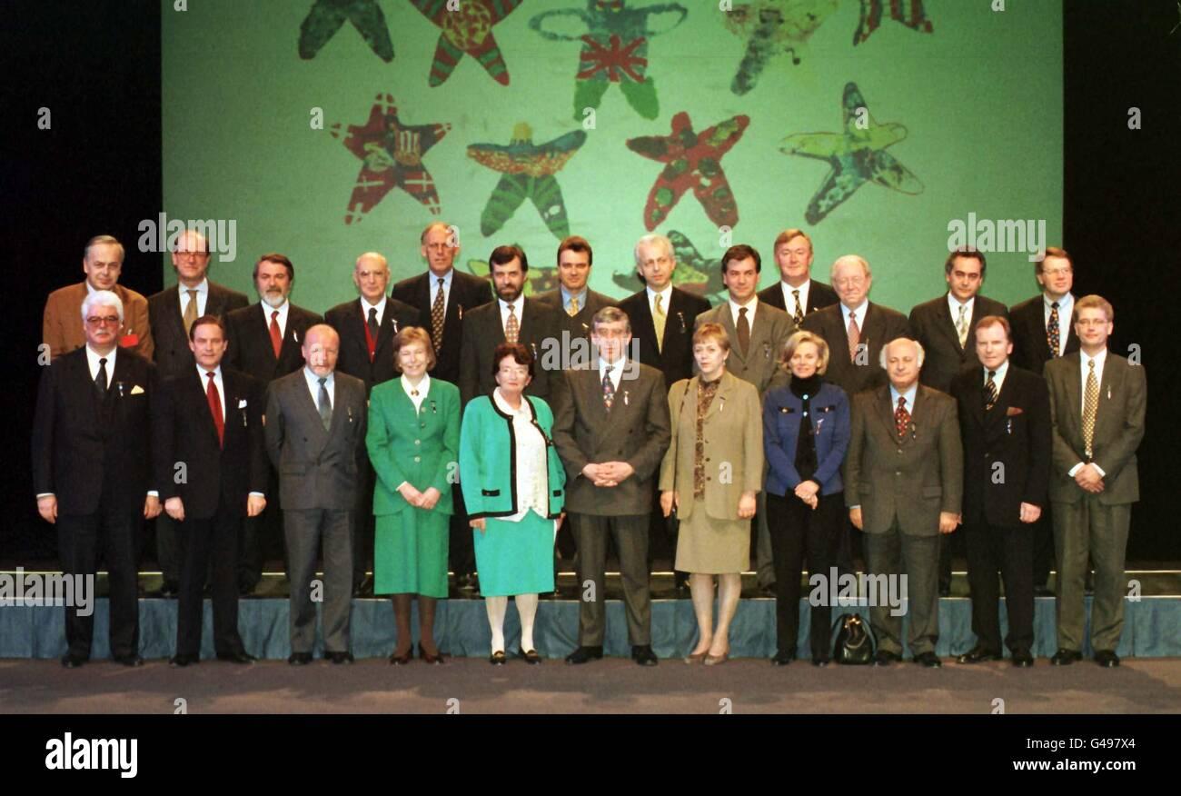STRAW/& Euro Delegates Stock Photo