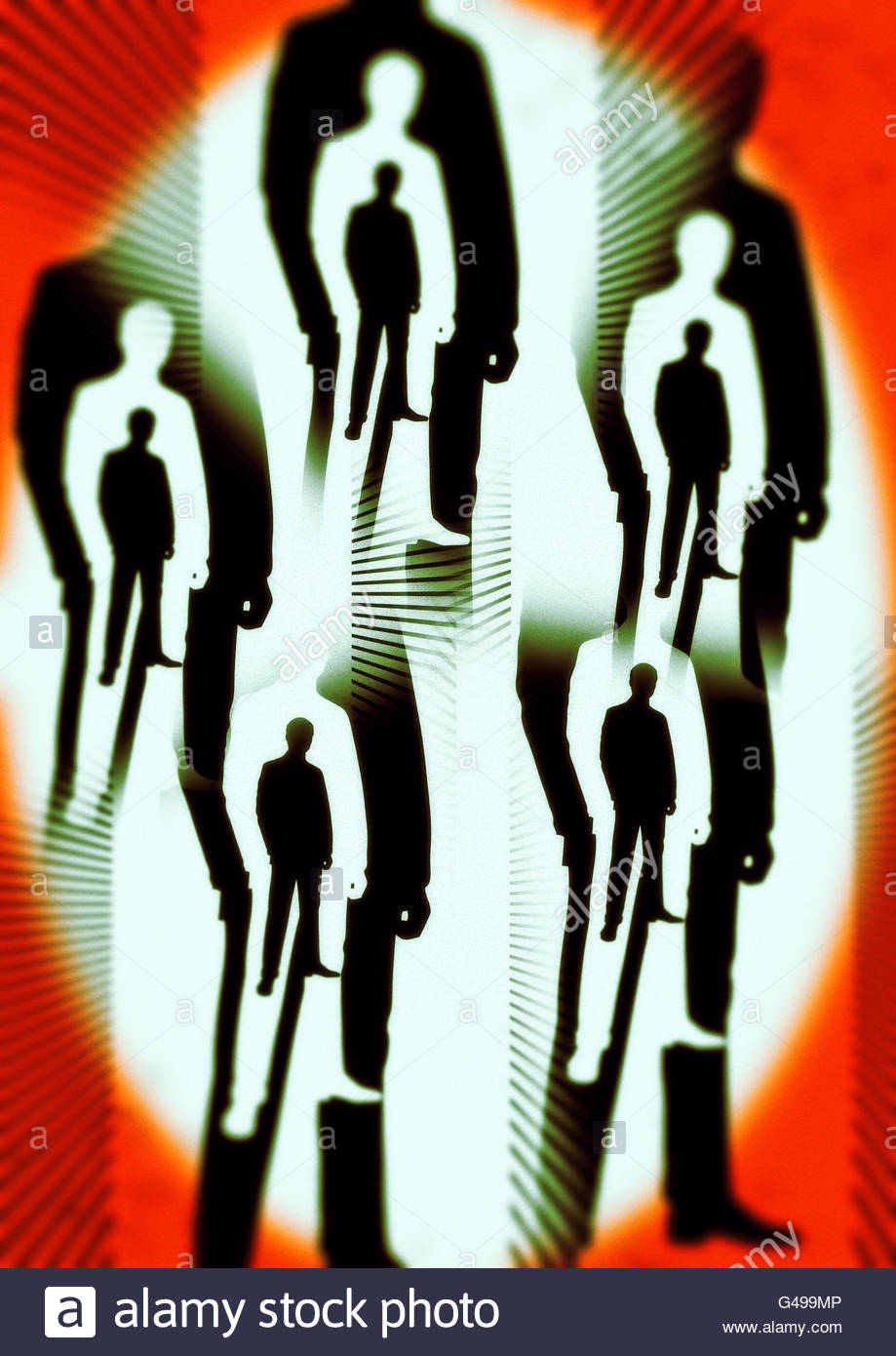 Men in Black area 51 conspiracy roswell illustration Stock Photo