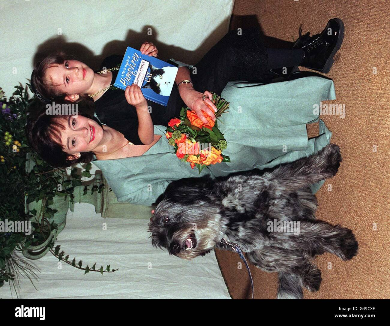 Blue Cross Cherie Blair - Stock Image