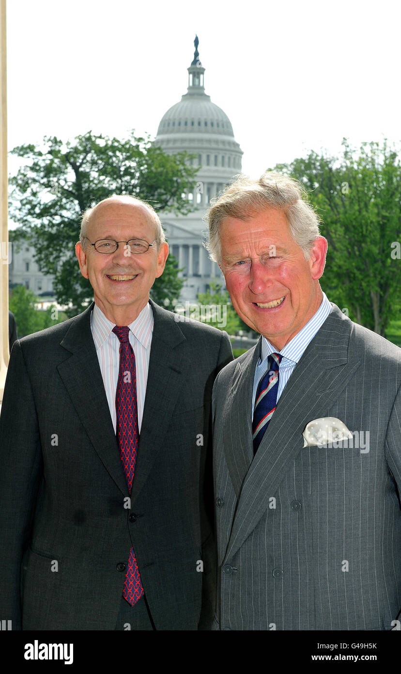 Prince of Wales visit to America - Stock Image