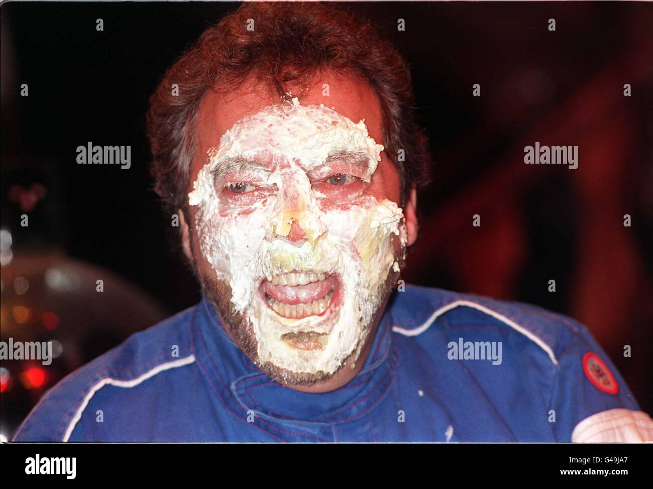 BEADLE/Pie in face 3 - Stock Image