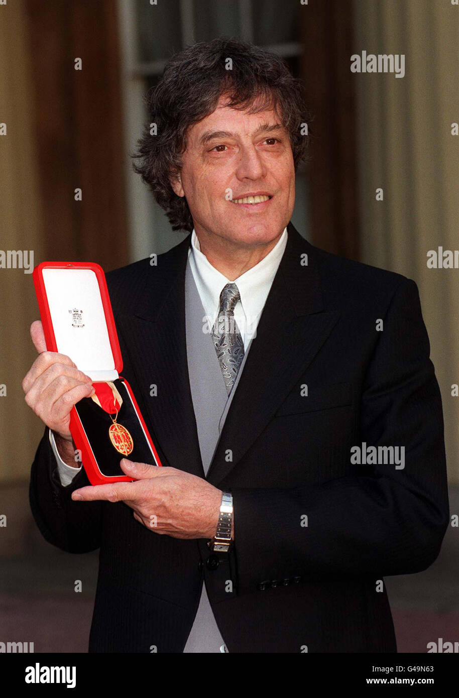 Investitures and Awards - Tom Stoppard - Buckingham Palace, London - Stock Image