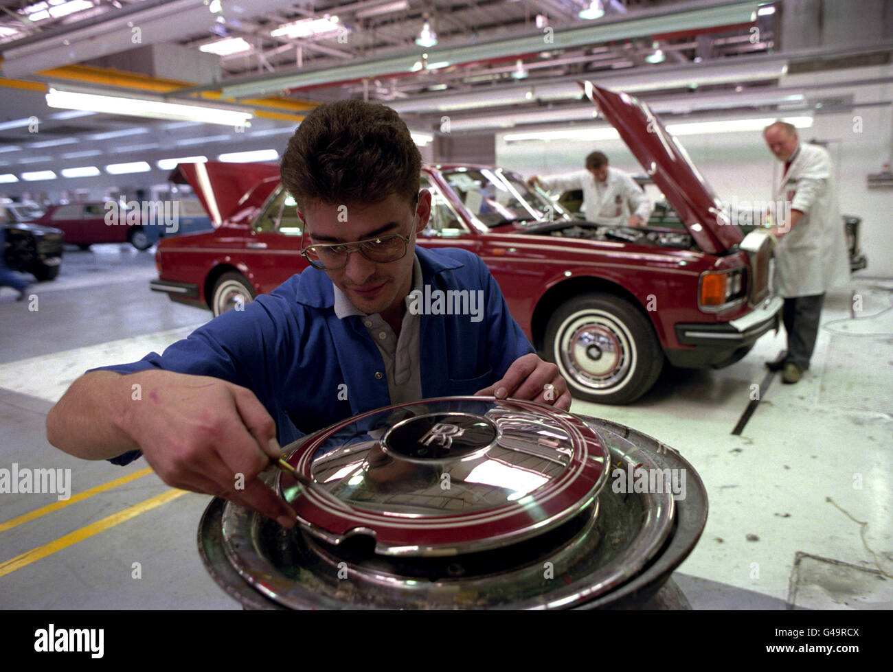 Transport - Rolls Royce Factory - Crewe - Stock Image