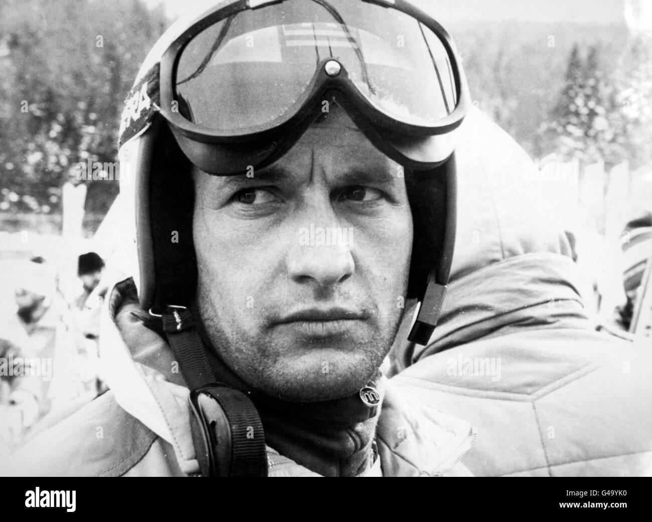 Skiing - Winter Olympic Games - Sarajevo 1984 - Men's Downhill - Stock Image